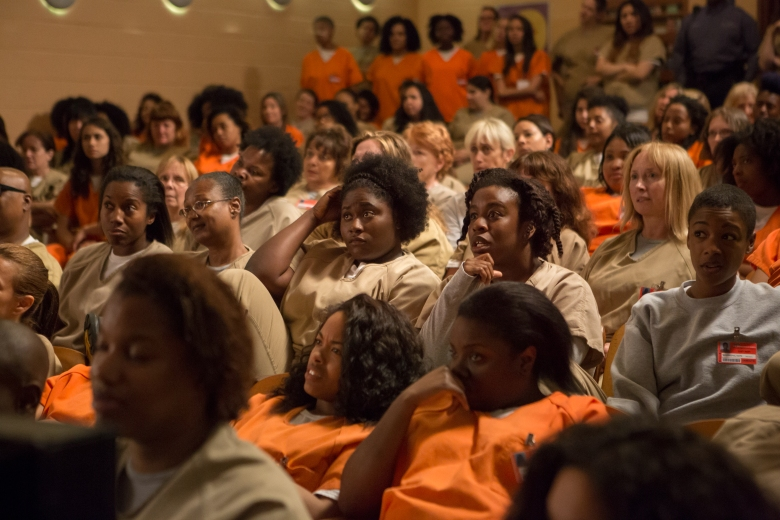 "Danielle Brooks, Samira Wiley, Uzo Aduba and Selenis Leyva in ""Orange is the New Black."""