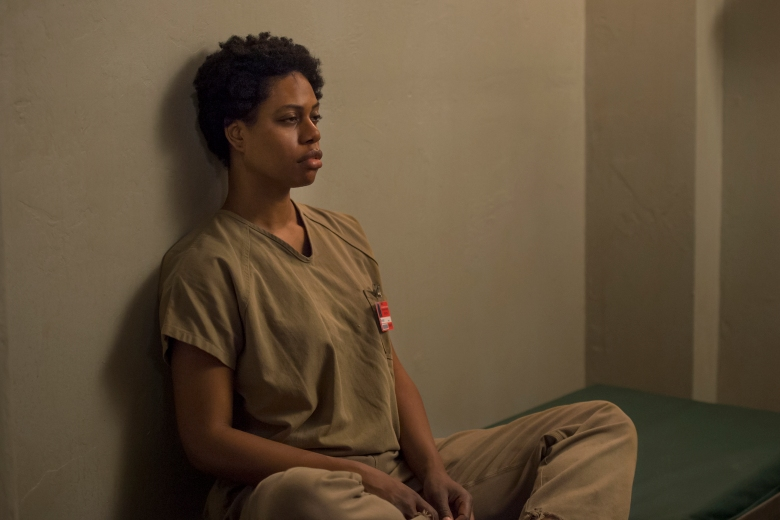 "Laverne Cox in ""Orange Is The New Black."""