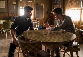 """Dominic Cooper and Joseph Gilgun in """"Preacher."""""""