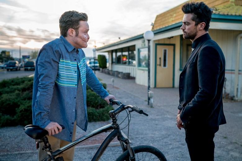 """Ian Colletti and Dominic Cooper in """"Preacher."""""""