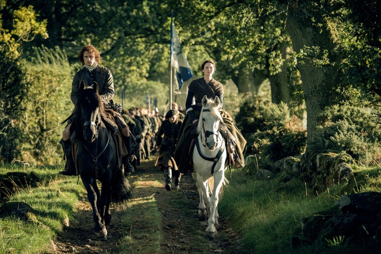 "Sam Heughan and Caitriona Balfe in ""Outlander."""