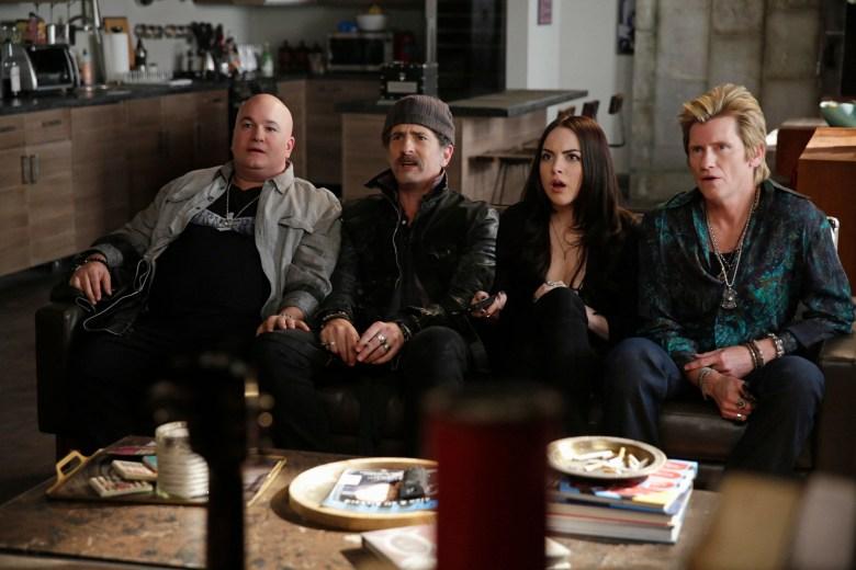 "Robert Kelly, John Ales, Elizabeth Gillies and Denis Leary in ""Sex&Drugs&Rock&Roll."""