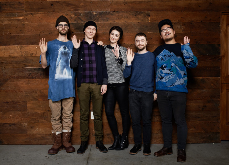 "The cast and crew of ""Swiss Army Man"" at Sundance"