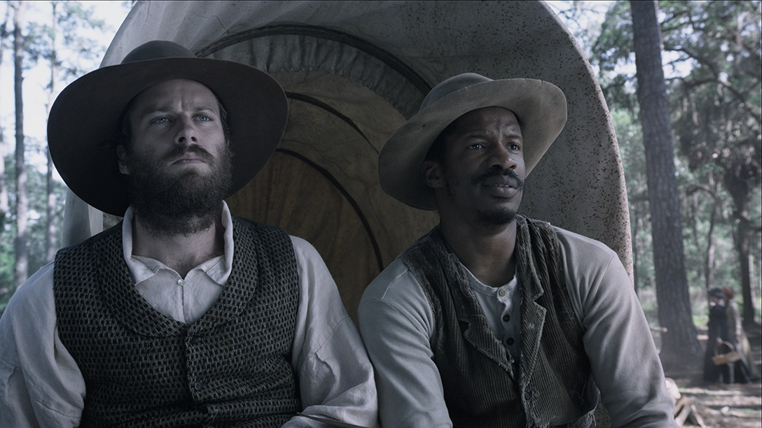 "Armie Hammer and Nate Parker in ""The Birth of a Nation"""