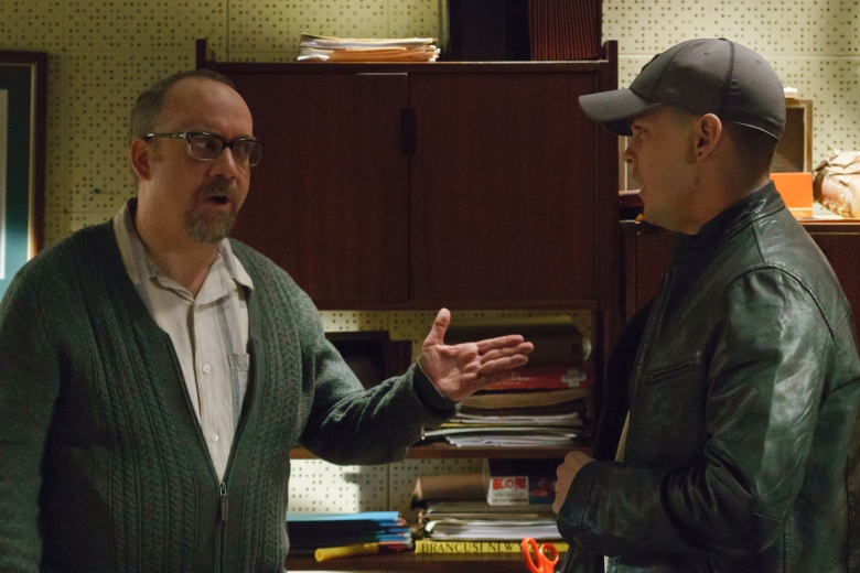 "Paul Giamatti and Johnny Simmons in ""The Phenom"""