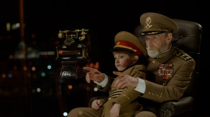 "Dachi Orvelashvili and Mikheil Gomiashvili in Mohsen Makhmalbaf's ""The President"""