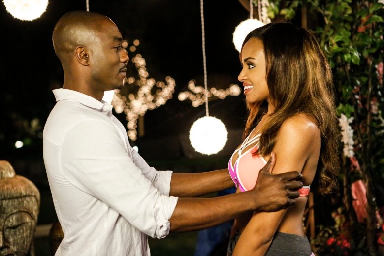 "B.J. Britt and Meagan Tandy in ""UnREAL."""