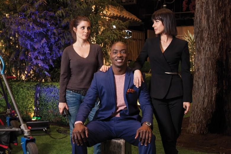 "Shiri Appleby, B.J. Britt and Constance Zimmer in ""UnREAL"""