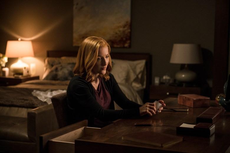"Gillian Anderson in ""The X-Files."""