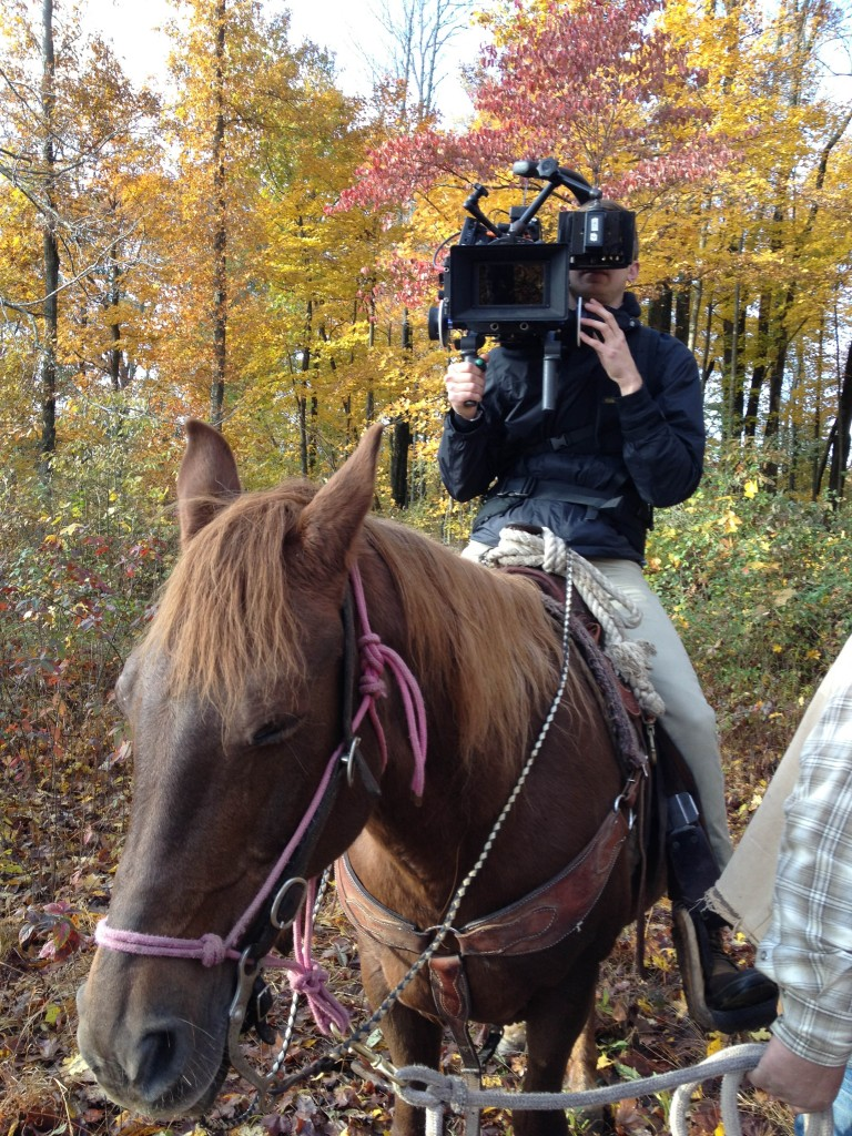 "DP Brett Jutkiewicz on horse for ""Men Go To Battle"""