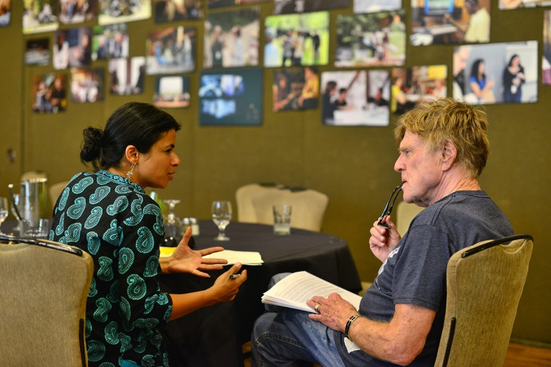 Sandhya Suri and Robert Redford