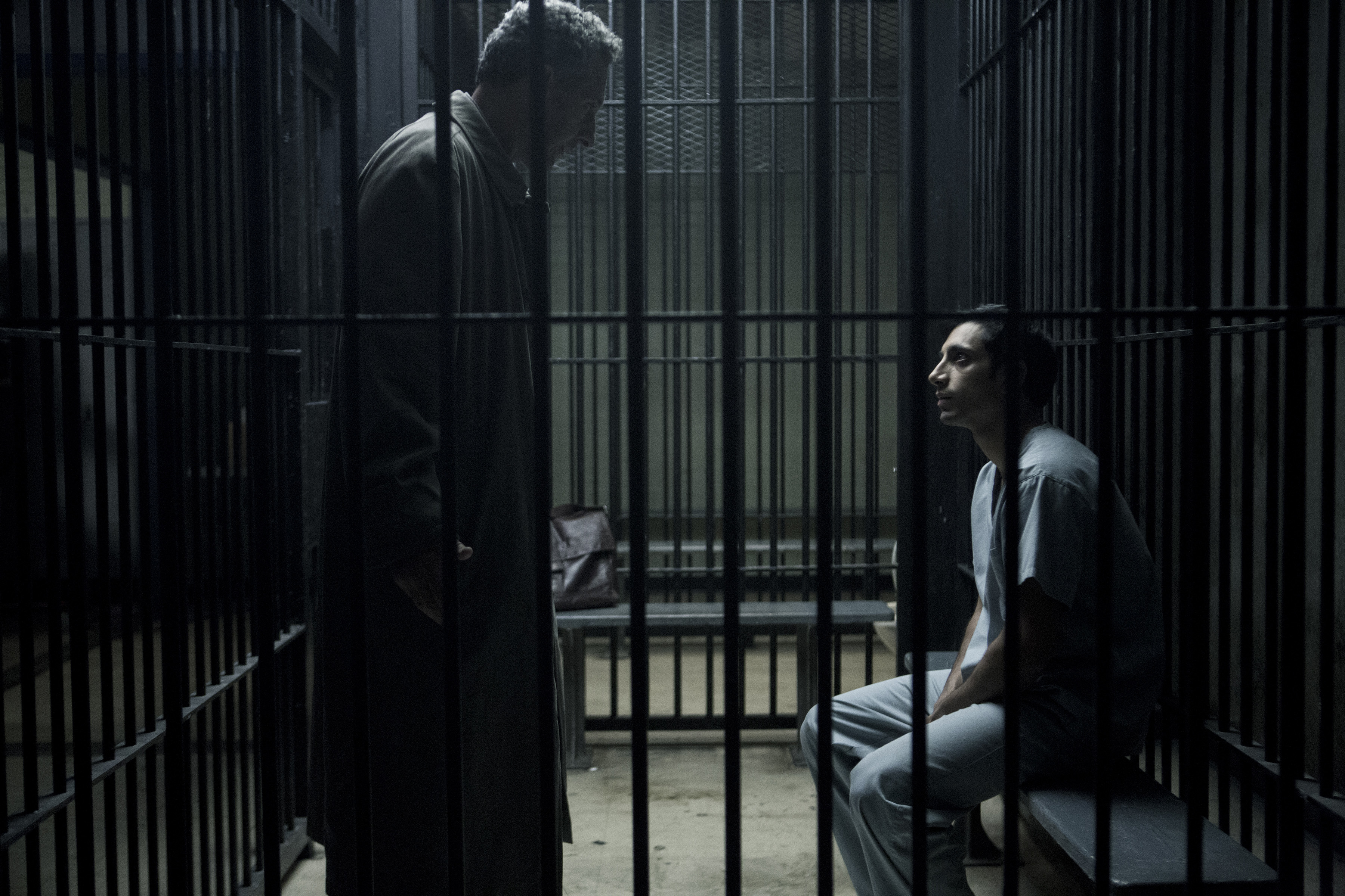 "John Turturro and Riz Ahmed in ""The Night Of."""