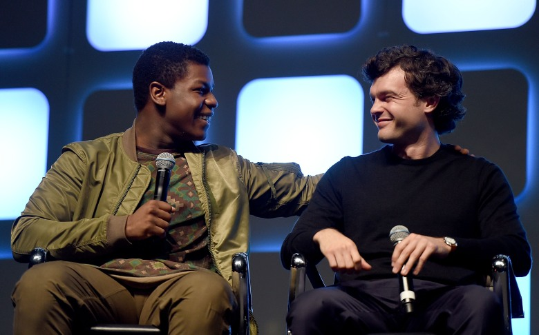 John Boyega and Alden Ehrenreich at Star Wars Celebration