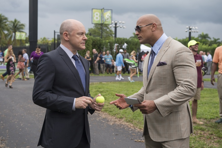 "Rob Corddry and Dwayne Johnson in ""Ballers."""