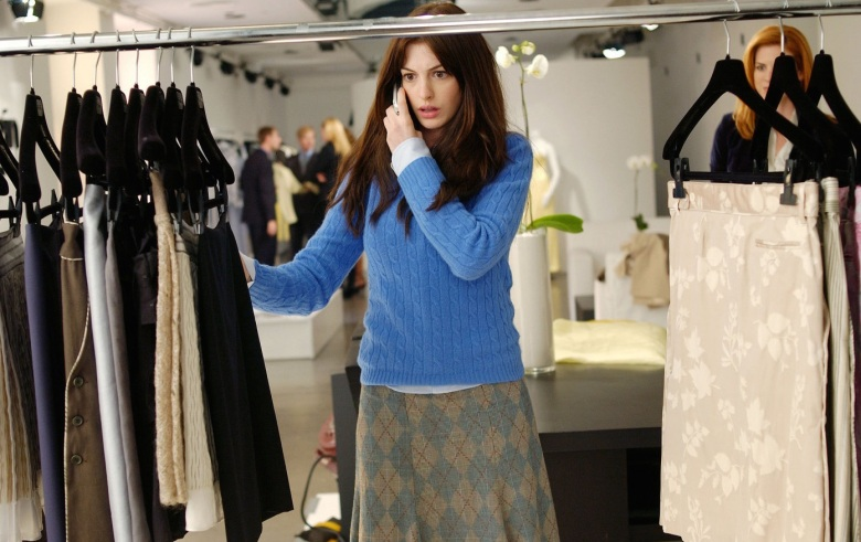 "Anne Hathaway in ""The Devil Wears Prada"""