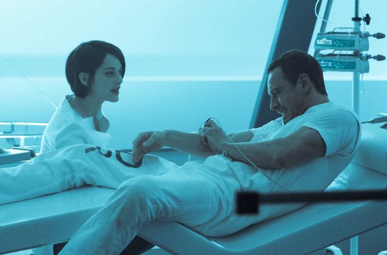"Michael Fassbender and Marion Cotillard in ""Assassin's Creed"""