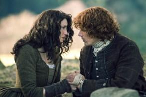 "Caitriona Balfe and Sam Heughan in ""Outlander."""
