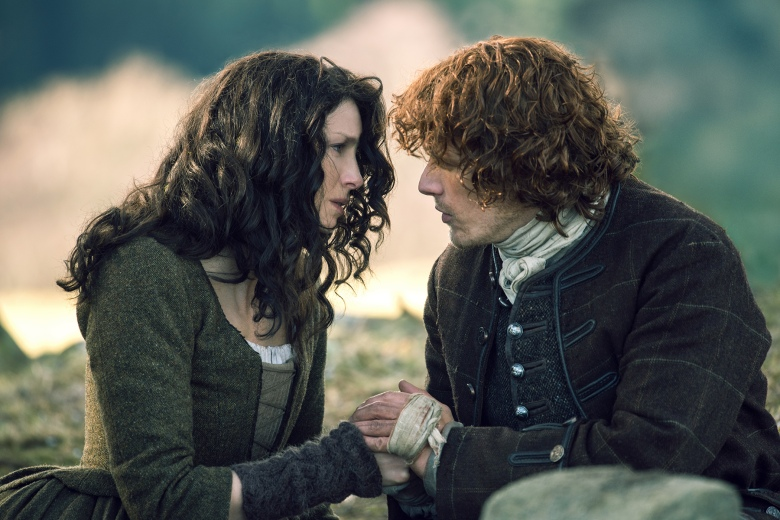 "Caitriona Balfe and Sam Heughan in ""Outlander."""