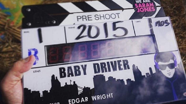 """Baby Driver"" clapboard"