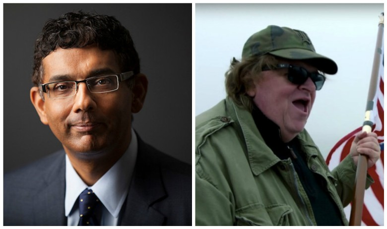 Dinesh D'Souza and Michael Moore