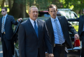 "Kevin Spacey and Nathan Darrow in ""House of Cards."""