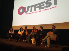 Writers Kellee Terrell, Chanelle Tyson, Jen Richards, Michael Walek, and Michael Colucci from the Outfest Screenwriting Lab