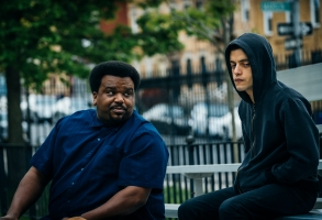"Craig Robinson and Rami Malek in ""Mr. Robot."""