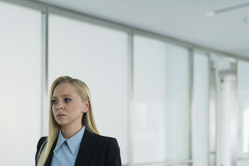 "MR. ROBOT -- ""eps2.1_k3rnel%u2010pan1c.ksd"" Episode 203 -- Pictured: Portia Doubleday as Angela Moss -- (Photo by: Michael Parmelee/USA Network)MR. ROBOT -- ""eps2.1_k3rnel%u2010pan1c.ksd"" Episode 203 -- Pictured: Portia Doubleday as Angela Moss -- (Photo by: Michael Parmelee/USA Network)"