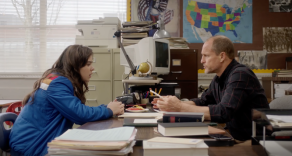 Hailee Steinfeld and Woody Harrelson