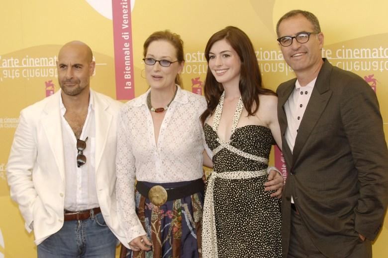 Stanley Tucci, Meryl Streep, Anne Hathaway and David Frankel