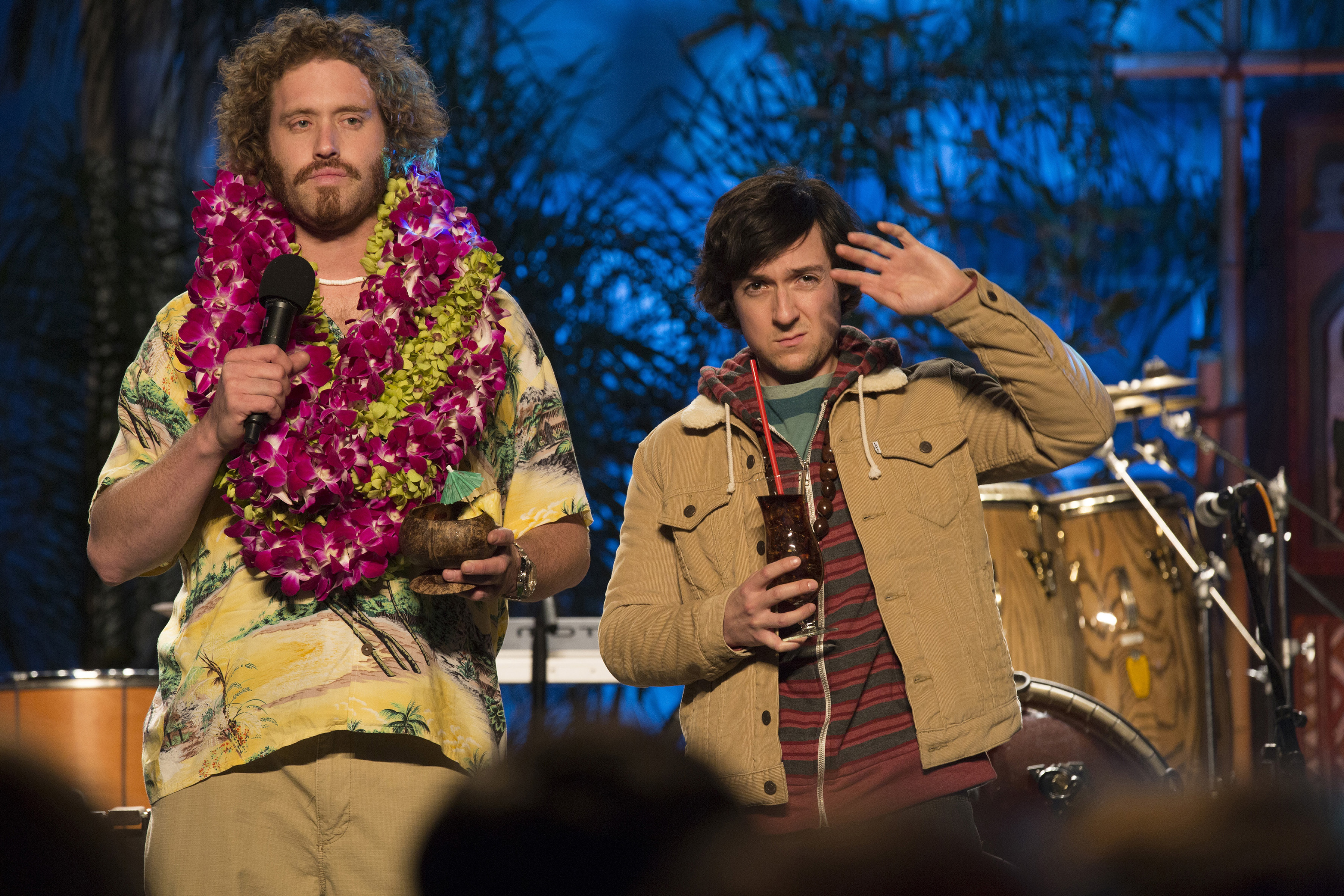 "T.J. Miller and Josh Brener in ""Silicon Valley"""