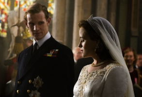 """Matt Smith and Claire Foy in """"The Crown."""""""
