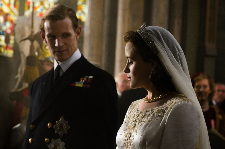 "Matt Smith and Claire Foy in ""The Crown."""