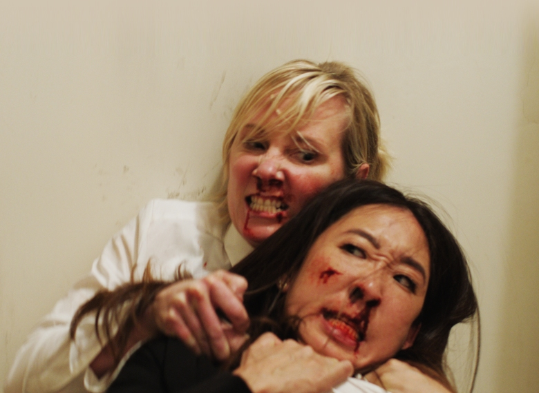 Sandra Oh Anne Heche Catfight