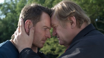 Michael fassbender and Brendan Gleeson in Trespass Against Us