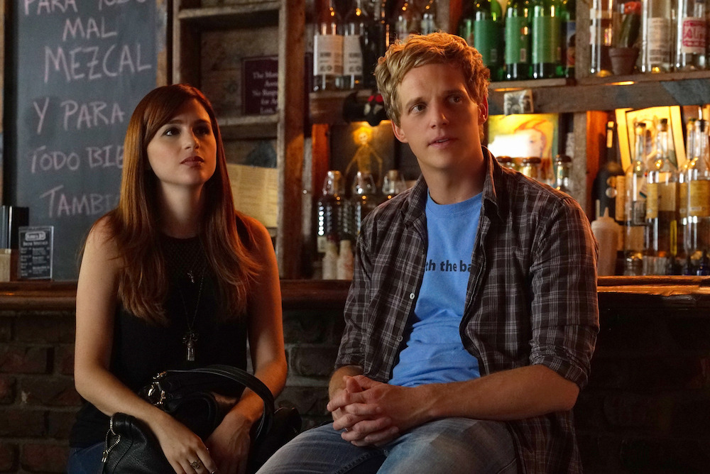 """YOU'RE THE WORST -- """"LCD Soundsystem"""" -- Episode 209 (Airs Wednesday, November 4, 10:30 pm e/p) Pictured: (l-r) Aya Cash as Gretchen, Chris Geere as Jimmy. CR: Byron Cohen/FX"""