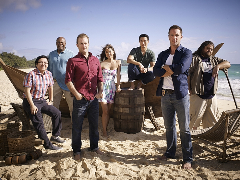 "The cast of ""Hawaii Five-O"""