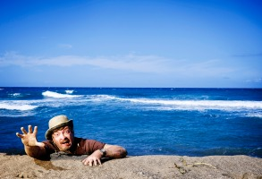 "Rhys Darby in ""Wrecked."""