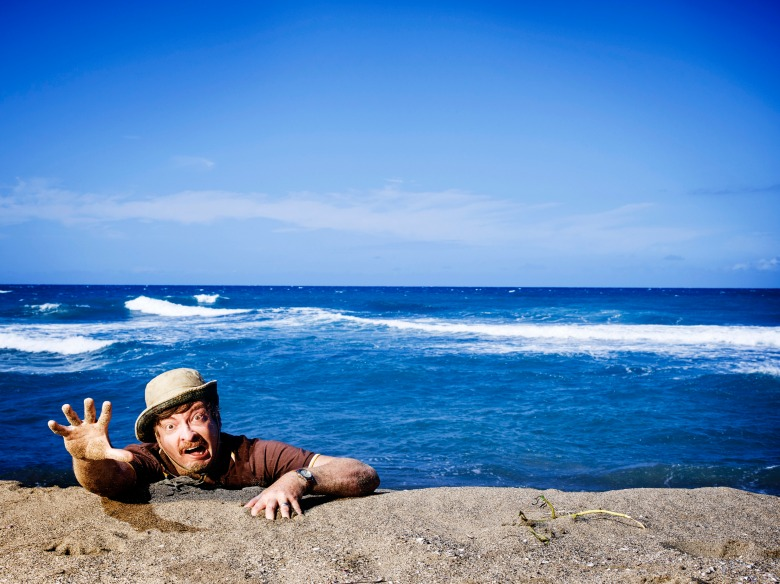 """Rhys Darby in """"Wrecked."""""""