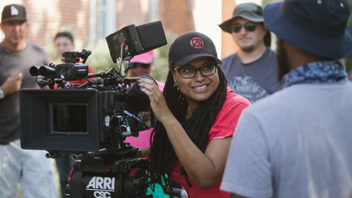 "Ava DuVernay on the set of ""Selma"""
