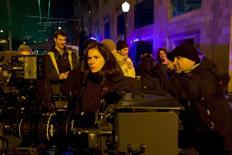 "Lexi Alexander on the set of ""Punisher: War Zone"""