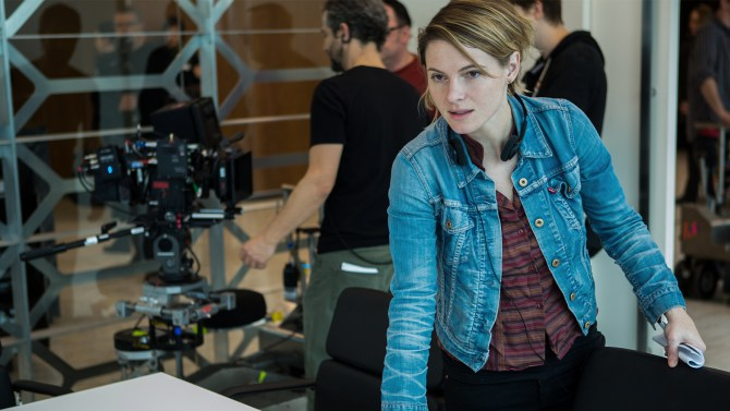 "Amy Seimetz on the set of ""The Girlfriend Experience"""
