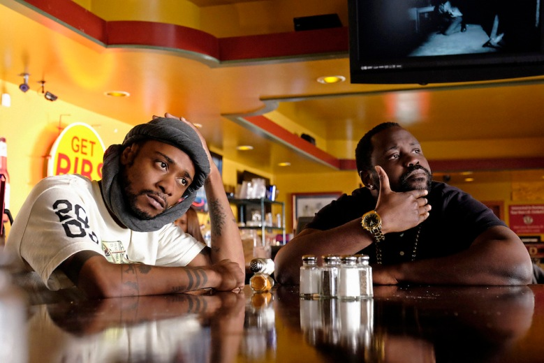 "ATLANTA ""Streets On Lock"" Episode 102 (Airs Tuesday, September 6, 10:30 pm e/p) Pictured: (l-r) Keith Stanfield as Darius, Brian Tyree Henry as Alfred Miles."