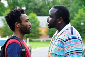 """ATLANTA """"The Big Bang"""" Episode 101 (Airs Tuesday, September 6, 10:00 pm e/p) Pictured: (l-r) Donald Glover as Earnest Marks, Brian Tyree Henry as Alfred Miles"""