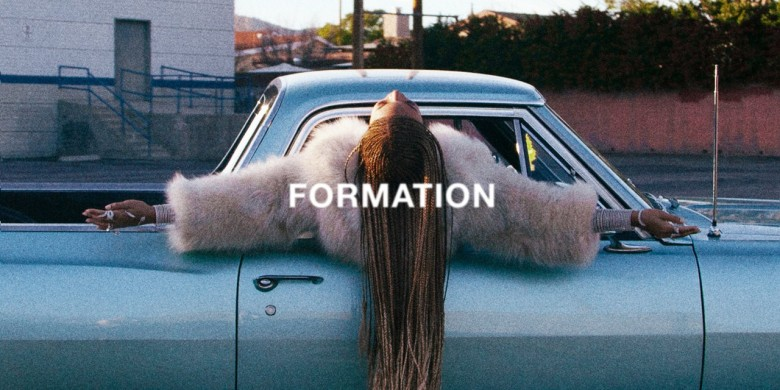 """Beyoncé in the video for """"Formation"""""""