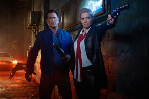 Ash vs. Evil Dead Key Art Shoot2016 Bruce Campbell Lucy Lawless