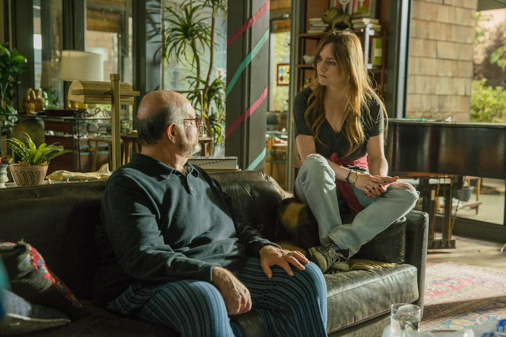 Fred Melamed as Charles, Tara Lynne Barr as Laura Meyers - Casual_Season 2, Episode 13, Photo credit: Greg Lewis/Hulu