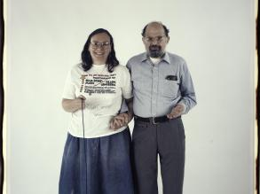 Elsa Dorfman and Allen Ginsberg. October 15, 1988.