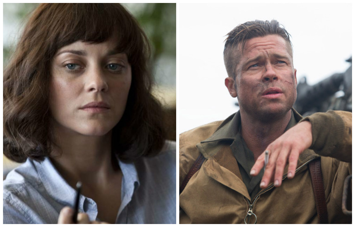 Allied First Look Brad Pitt Marion Cotillard In New Robert