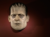 "Boris Karloff ""Frankenstein"" head at Guillermo del Toro's LACMA exhibit ""At Home with Monsters."""